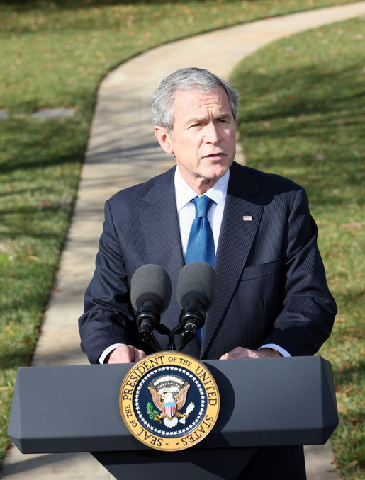 President George W. Bush in 2008. Photo by Chris Greenberg/Wikimedia Commons