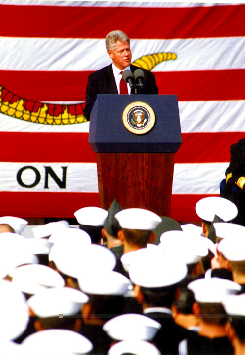 President Bill Clinton in 1996. Photo by U.S. Navy/Wikimedia Commons