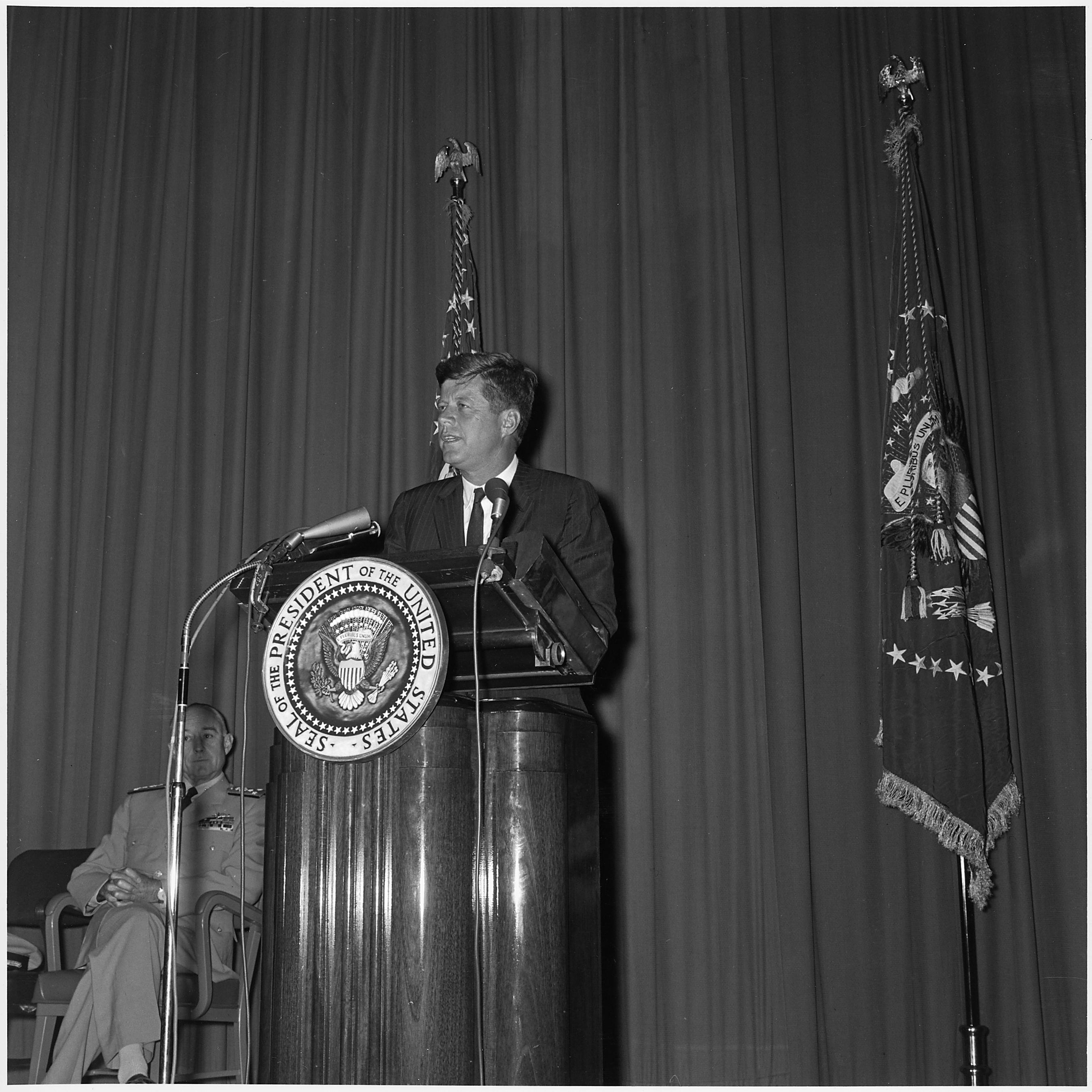 President Kennedy in 1961. Photo by Robert L. Knudsen/Wikimedia Commons